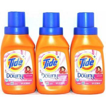 美國Tide 超濃縮洗衣精含downy柔軟精(10oz/306ml)*12/箱購