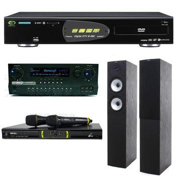 音圓 B-580 伴唱機+JAMO S526 主喇叭+MIPRO OK-9DⅡ 無線麥克風+DANWEIGH DW 1 擴大機