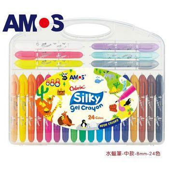 【BabyTiger虎兒寶】韓國 AMOS 神奇水蠟筆 - 中款 - 24 色