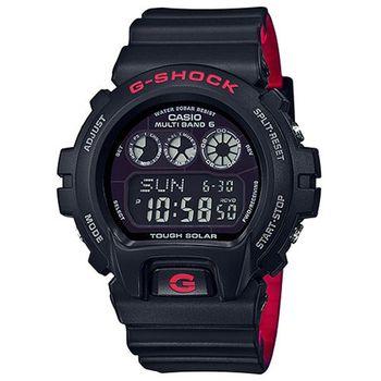 CASIO 卡西歐 經典錶款電波太陽能運動時尚腕錶/50mm/GW-6900HR-1