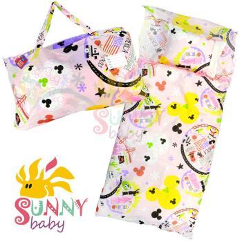 【Sunnybaby生活館】- 卡通造型幼教兒童睡袋-米奇米妮美國風