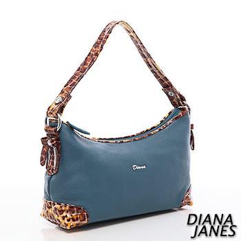 Diana Janes 豹紋甜心小托特包-藍
