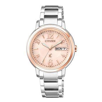 【CITIZEN星辰】亞洲限定XC 甜美知性光動能計時女用腕錶-銀(EW2424-50W)