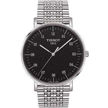 TISSOT 天梭 Everytime 經典雋永腕錶-黑/42mm T1096101107700