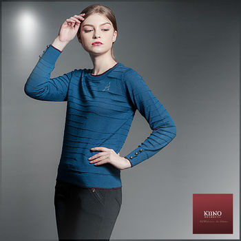 【KIINO】簡約鑽飾圓領針織衫(3852-1025)