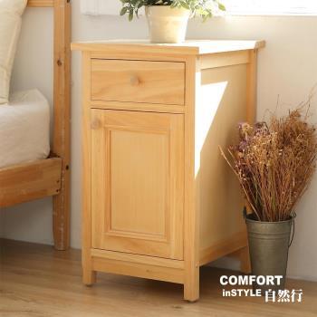 CiS自然行實木家具 收納櫃-原木床頭櫃-矮櫃(扁柏自然色)