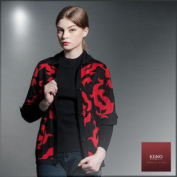 【KIINO】帥氣復古五分袖針織外套(3852-1912)