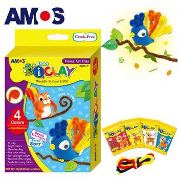 【BabyTiger虎兒寶】韓國 AMOS 4色 15克 松鼠小鳥 DIY 超輕黏土