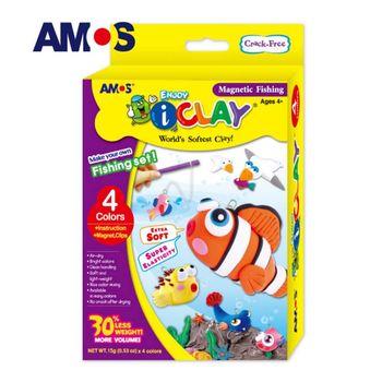【BabyTiger虎兒寶】韓國 AMOS 4色 15克 釣魚 DIY 超輕黏土
