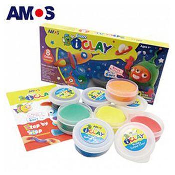 【BabyTiger虎兒寶】韓國 AMOS  8色18克 超輕黏土