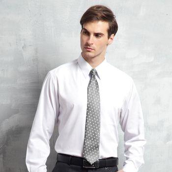 Valentino Rudy范倫鐵諾.路迪-長袖襯衫-白色素面