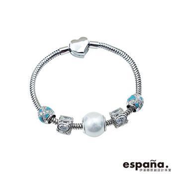 ESPANA伊潘娜 藍色晚宴純銀串珠手鍊