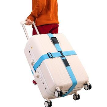 【旅遊首選、旅行用品】行李箱十字緊扣行李保護 束帶 打包帶 綑綁帶