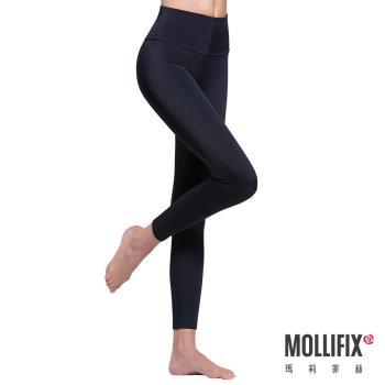 Mollifix瑪莉菲絲 極暖抗寒BABY絨塑身褲 (黑)
