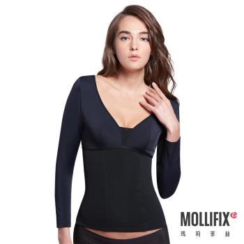 Mollifix瑪莉菲絲 極暖抗寒BABY絨塑身衣 (黑)