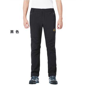 【M.G】男款加绒加厚防寒防風防水機能褲((黑色)- M/L/XL/2XL/3XL  超強透氣效果、加絨加厚、防風防寒保暖等功能