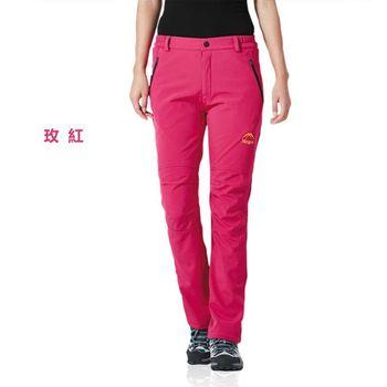 【M.G】女款加绒加厚防寒防風防水機能褲(玫紅) - M/L/XL/2XL/3XL  超強透氣效果、加絨加厚、防風防寒保暖等功能