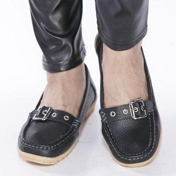 A-BOWO全真皮調整扣休閒女鞋