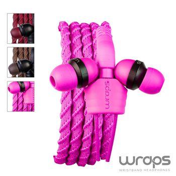 【Wraps】Classic Wristband Headphone Pink 經典編織款手環耳機