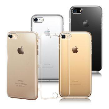 COLORS Apple iPhone 7 / i7 4.7吋 水晶果凍透明皮套(2入1組)