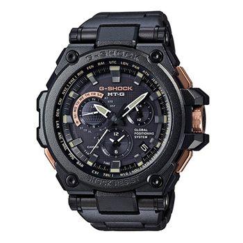CASIO 卡西歐 MT-G系列 暗黑力量太陽能GPS 全金屬電波計時錶/54.7mm/ MTG-G1000RB-1A