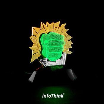 InfoThink浩克3D立光燈(觸控式開關)