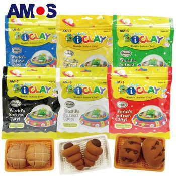 【BabyTiger虎兒寶】韓國 AMOS  6色 50克 袋裝超輕黏土