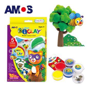 【BabyTiger虎兒寶】韓國 AMOS  5色 18克 罐裝超輕黏土-附配件
