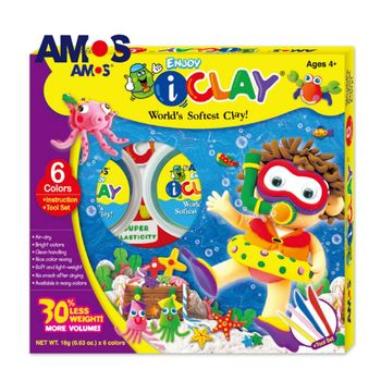 【BabyTiger虎兒寶】韓國 AMOS  6色18克 超輕黏土