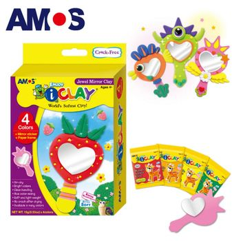 【BabyTiger虎兒寶】韓國 AMOS 4色 15克 可愛鏡子 DIY 超輕黏土