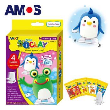 【BabyTiger虎兒寶】韓國 AMOS 4色 15克 企鵝青蛙 DIY 超輕黏土