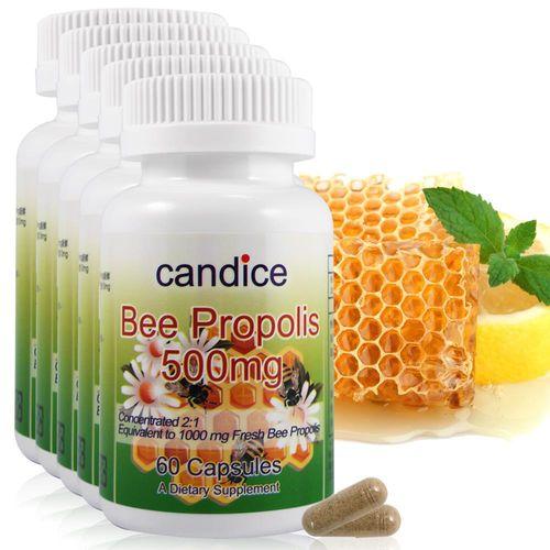【Candice】康迪斯精品蜂膠膠囊500mg(60顆*5瓶)