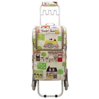 卡蘿輕便時尚購物車-36L波浪三輪-香榭大道 (可上下樓梯)