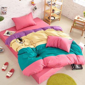 RODERLY 草莓夾心 加大四件式被套床包組 獨家贈限量甜甜圈抱枕