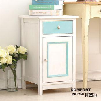 CiS自然行實木家具 矮櫃-收納櫃-床頭櫃(聖托里尼白)