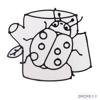 【BabyTiger虎兒寶】愛玩色 兒童無毒彩繪玻璃貼- 小張圖卡 - 瓢蟲 ipcpS1