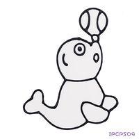 【BabyTiger虎兒寶】愛玩色 兒童無毒彩繪玻璃貼- 小張圖卡 - 海獅 ipcpS0