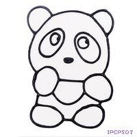 【BabyTiger虎兒寶】愛玩色 兒童無毒彩繪玻璃貼- 小張圖卡 - 熊貓 ipcpS0