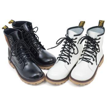 【 cher美鞋】MITR經典馬丁靴(黑/白)♥LKRN-C