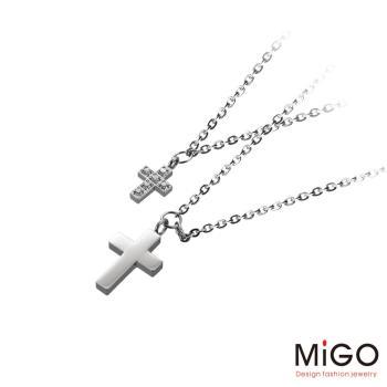 MiGO 溫柔的愛施華洛世奇美鑽/白鋼項鍊