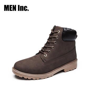 Men Inc.「強悍」軍規耐磨工作靴(棕色)