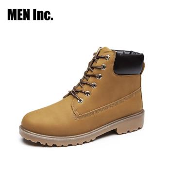 Men Inc.「強悍」軍規耐磨工作靴(黃色)