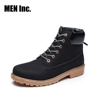 Men Inc.「強悍」軍規耐磨工作靴(黑色)