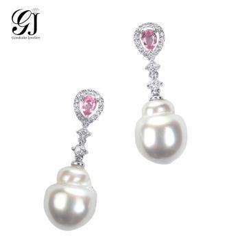 [晉佳珠寶] Gemdealler Jewellery 女人專屬 獨特珍藏 天然大溪地變形珍珠耳環
