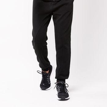 【美國 AIRWALK】個性弧度剪接刷毛長褲-男 -黑