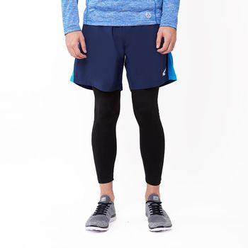 【美國 AIRWALK】素色經典內刷毛運動緊身褲-男 -黑
