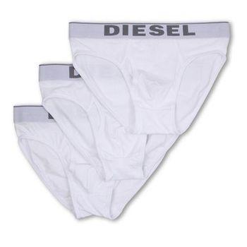 【Diesel】2016男時尚彈力棉Blade白色三角內著3件組(預購)