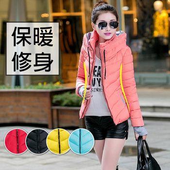 【ceres席瑞絲】3D立體修身保暖立領羽絨棉外套(Q0573)