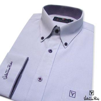 Valentino Rudy范倫鐵諾.路迪 -長袖襯衫-淡紫-釘釦領