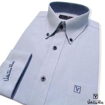 Valentino Rudy范倫鐵諾.路迪 -長袖襯衫-淡藍-釘釦領